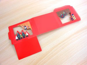 クリスマスのお菓子の箱 飾り台紙展開