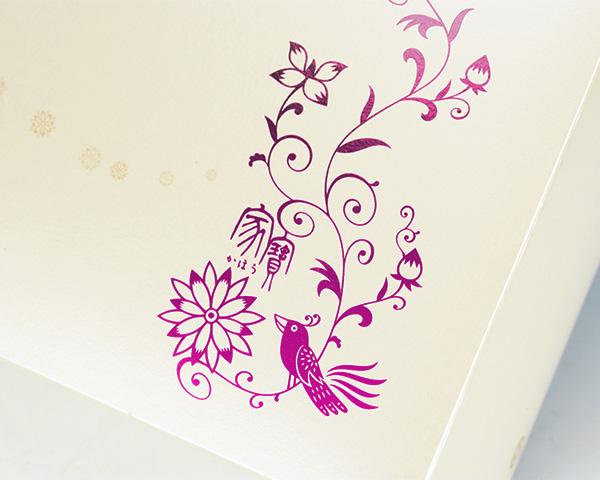 化粧箱屋ドットコム コマガタ 高級感ギフト箱 箔押し ピンク