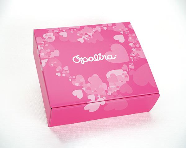 化粧箱屋ドットコム コマガタ 特色印刷 N式化粧箱 ピンク ギフトBOX 下着用