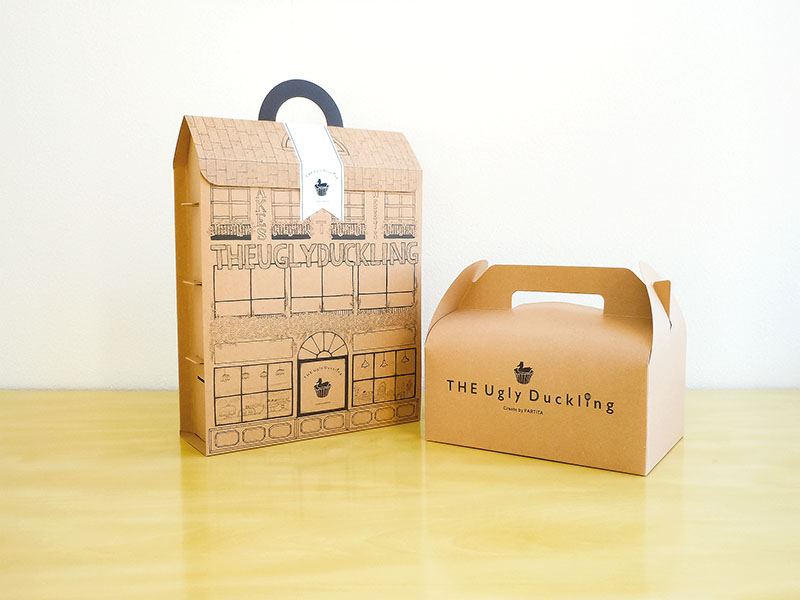 カップケーキ化粧箱 ドールハウス型 取っ手つき 化粧箱屋ドットコム