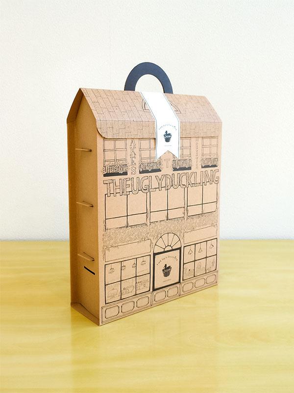 カップケーキ化粧箱 ドールハウス型 化粧箱屋ドットコム