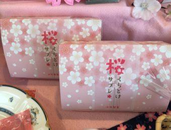 コマガタ事例 小竹製菓様 桜くちどけサブレ化粧箱掛け紙 デザイン制作事例