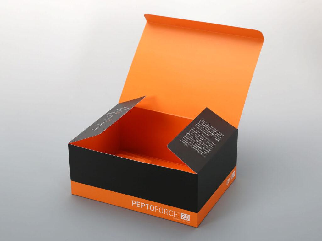 サプリメント用化粧箱の中面